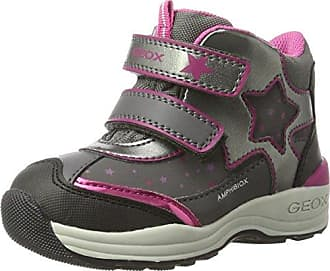 Geox Baby Mädchen B New Gulp Girl B ABX C Hohe Sneaker, Grau (Grey/Cyclamen), 23 EU