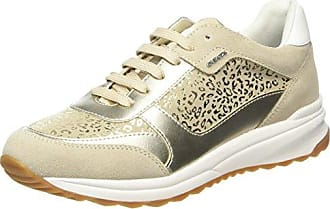 Geox D Ophira E, Zapatillas para Mujer, Dorado, 38 EU