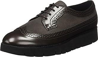 Geox U Hilstone 2fit a, Zapatos de Cordones Brogue para Hombre, Negro (Black), 43 EU