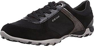 Geox D Freccia A - Zapatilla Deportiva de Cuero Mujer, Color Negro, Talla 35