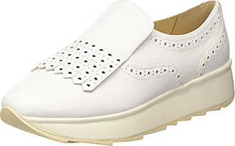Geox D Marlyna B, Mocasines para Mujer, Blanco (White), 37.5 EU