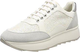 Damen D Breeda D Sneaker, Gold (Off White/Gold), 37 EU Geox