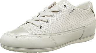 Geox Damen D New Moena D Sneaker, Beige (Skin/Off White), 41 EU