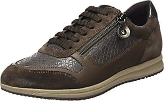 D Avery a, Zapatillas para Mujer, Marrón (Smoke Grey/Chestnut), 40 EU (7 UK) Geox