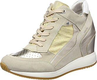 Geox D Eleni C, Zapatillas Altas para Mujer, Gris (Lt Grey/Silver), 38 EU