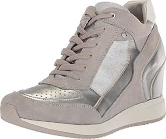 Geox Damen D Nydame A Hohe Sneaker, Grau (Lt Grey), 40 EU