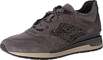 Damen D Eleni D Sneakers, Grau (Gun/Dk GREYC1G9F), 41 EU Geox