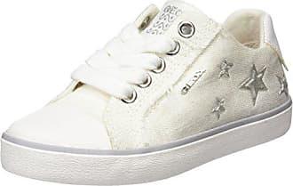 Geox J Kilwi J, Zapatillas para Niñas, Blanco (White/Multicolor), 38 EU