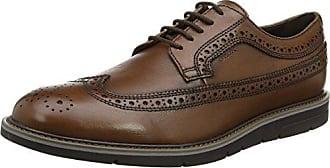 U Hilstone 2fit a, Zapatos de Cordones Brogue para Hombre, Marrón (Cognac), 46 EU Geox