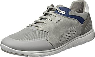Geox U Xunday 2Fit A - Zapatillas para Hombre, Gris - Grey (Ice/Navy), 46