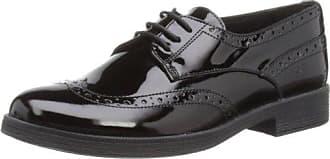 Geox J Casey M, Zapatos de Cordones Derby para Niñas, Negro (Black), 31 EU