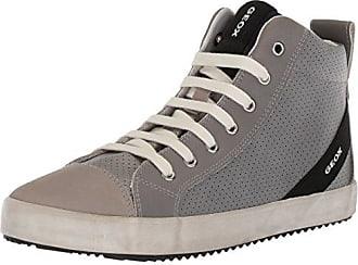 Geox Jungen J Alonisso Boy A Hohe Sneaker, Grau (Lt Grey/Royal), 33 EU