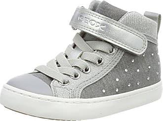 Geox Mädchen J Kilwi Girl L Hohe Sneaker, Grau (Grey), 33 EU