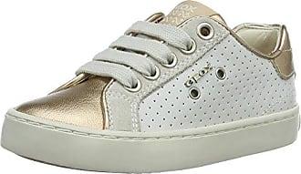 Geox Jr Kilwi Girl, Zapatillas para Niñas, Blanco (White/Fuchsia C0563), 28 EU
