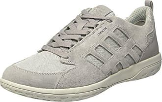 Geox U Mansel A, Sneakers Basses Homme, Marron (Charcoal/Sage), 40 EU