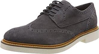Base London Bowling Bowling_Gris (Suede Grey) - Zapatos de cordones de ante para hombre, color gris, talla 45