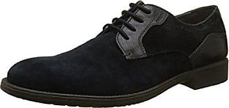 Geox U Winfred C, Zapatos de Cordones Brogue para Hombre, Negro (Black), 42 EU