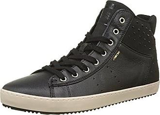 Geox J Kalispera B, Zapatillas Altas para Niñas, Negro (Black/Gold), 36 EU