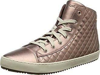 Geox Kalispera J, Sneakers Basses Mixte Adulte, Beige (DK Beige), 42 EU