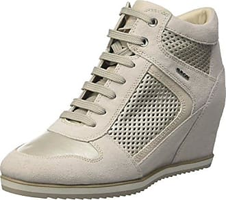 Geox Damen D Illusion D High-Top, Weiß (Ivory/platinumc0997), 40 EU