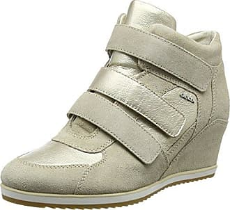 Geox Damen D Illusion D High-Top, Weiß (Ivory/platinumc0997), 36 EU