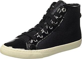 Geox D New Club C, Zapatillas Mujer, Negro (BLACKC9997), 36 EU