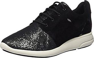 Geox D Hidence a, Zapatillas para Mujer, Schwarz (Black/SILVERC0039), 36 EU