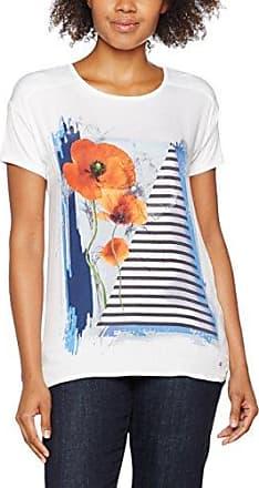 Gerry Weber Samoon by Spice It Up, T-Shirt Femme, Blau (Persian Blue Druck 8022), 52