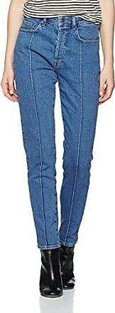 Cecily Button, Jean Slim Femme, Bleu (Medium Blue), W27Gestuz