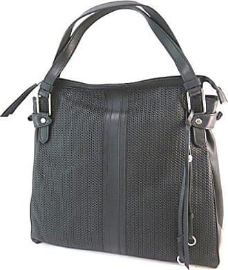 P5230 - Ledertasche schwarz - 27x23x12,5 cm Gianni Conti