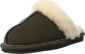 Damart 45457, Zapatillas de Estar por Casa para Mujer, Marrón (Camel), 37 EU