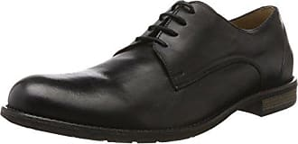 ECCO Crepetray, Zapatos de Cordones Brogue Para Hombre, Negro (Black/Powder), 40 EU