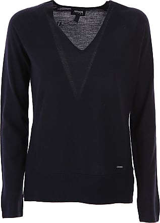 Sweater for Women Jumper On Sale, Midnight, Virgin wool, 2017, 12 14 8 Giorgio Armani