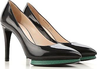 Zapatos de Tacón de Salón Baratos en Rebajas Outlet, Negro, Piel de Becerro, 2017, 36.5 Giorgio Armani