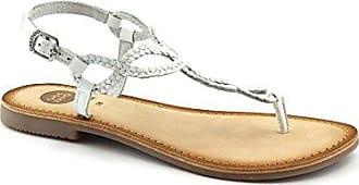 Gioseppo 39222 White Weiße Frauen Leder Zehensteg Sandalen 36