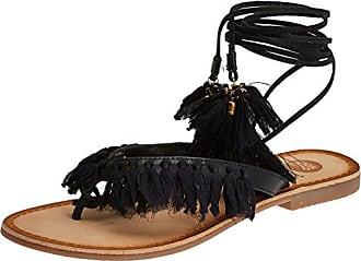 44932, Sandales Bout Ouvert Femme, Noir (Black), 40 EUGioseppo