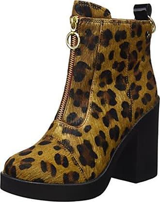 Gioseppo Luisiana, Zapatos de Cordones Brogue para Mujer, Varios Colores (Leopardo), 37 EU