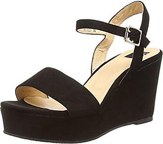 29, Damen Offene Sandalen mit Keilabsatz, Schwarz (Black), 39 EUGiudecca