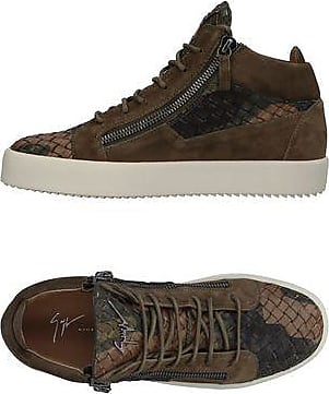 Logoball Chaussures En Daim Et En Cuir Deux Tons - Noir Giuseppe Zanotti