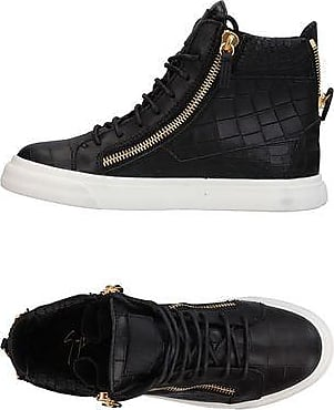 Logoball Croc-effect Leather High-top Sneakers - BlackGiuseppe Zanotti