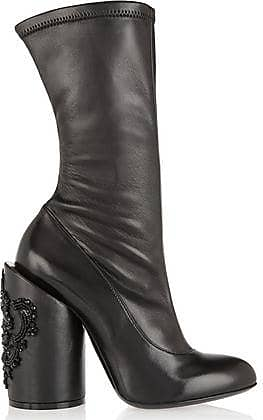 Givenchy Woman Crystal-embellished Leather Boots Black Size 36 Givenchy