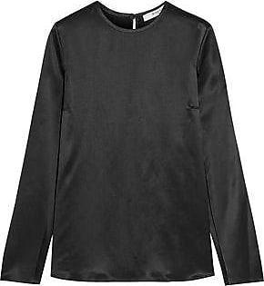 Givenchy Woman Fringed Top In Black Silk-satin Black Size 36 Givenchy