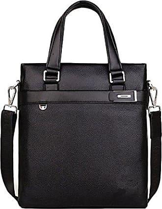 Handtaschen-Schulter-Beutel-Aktenkoffer-Kurier-Beutel-große Kapazitäts-Dateipack-Freizeit,Black-OneSize GKKXUE
