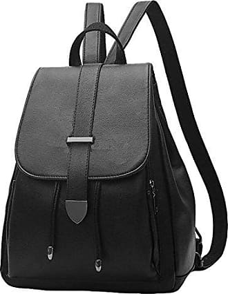 Umhängetasche Handtaschen Mode Große Kapazität Freizeit Pu Weichem Leder Rucksack Dame Reisetasche,Red-OneSize Laidaye