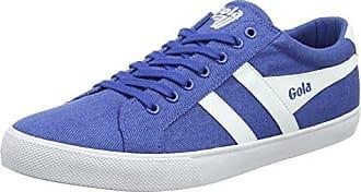 Gola Coaster Linen, Zapatillas para Hombre, Azul (Slate Blue/Off White EW Blue), 44 EU