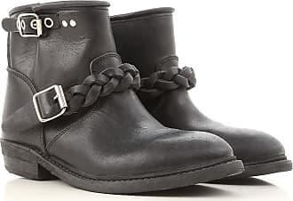 Boots for Women, Booties On Sale, Black, Suede leather, 2017, 5.5 Golden Goose