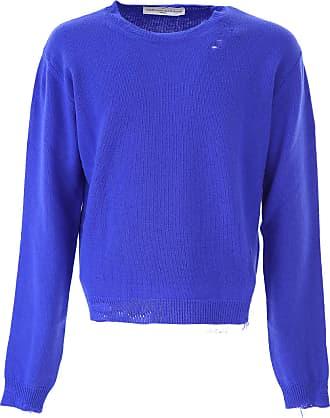 Sweater for Men Jumper On Sale, Peyton, Midnight Blue, Cotton, 2017, L M XL Golden Goose