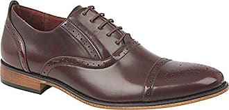 Goor Herren Oxford-Schuhe / Brogues / Schnürschuhe, Leder (44,5 EU) (Schwarz)