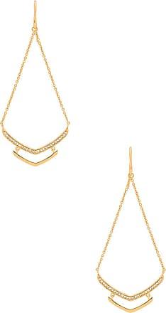 Gorjana Cress Shimmer Drop Earring in Metallic Gold