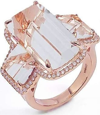 Goshwara Gossip Rock Crystal 3 Stone Ring - 6.5
